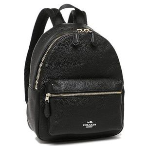 Coach small black backpack